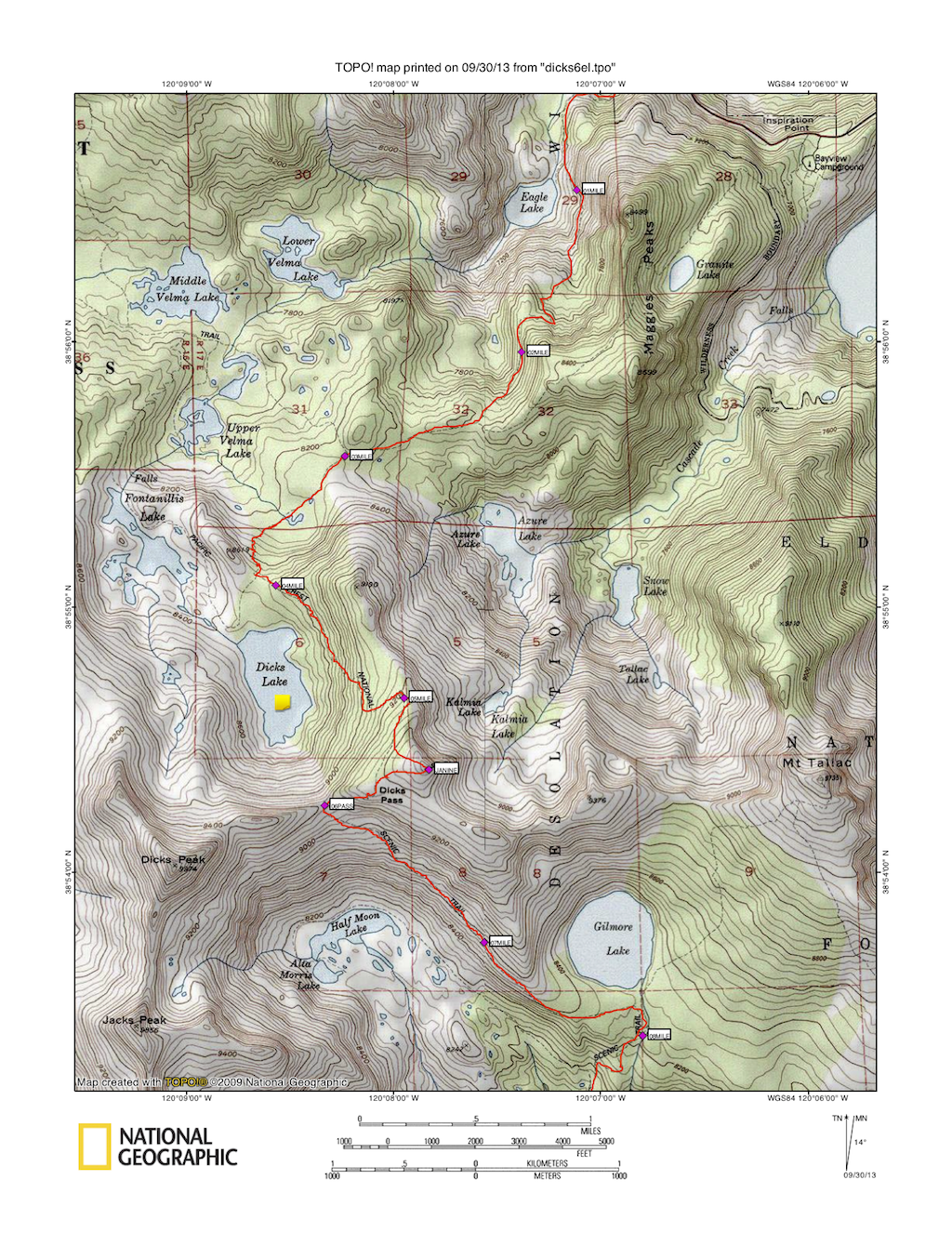 here is one of the topo maps tom created for our journey