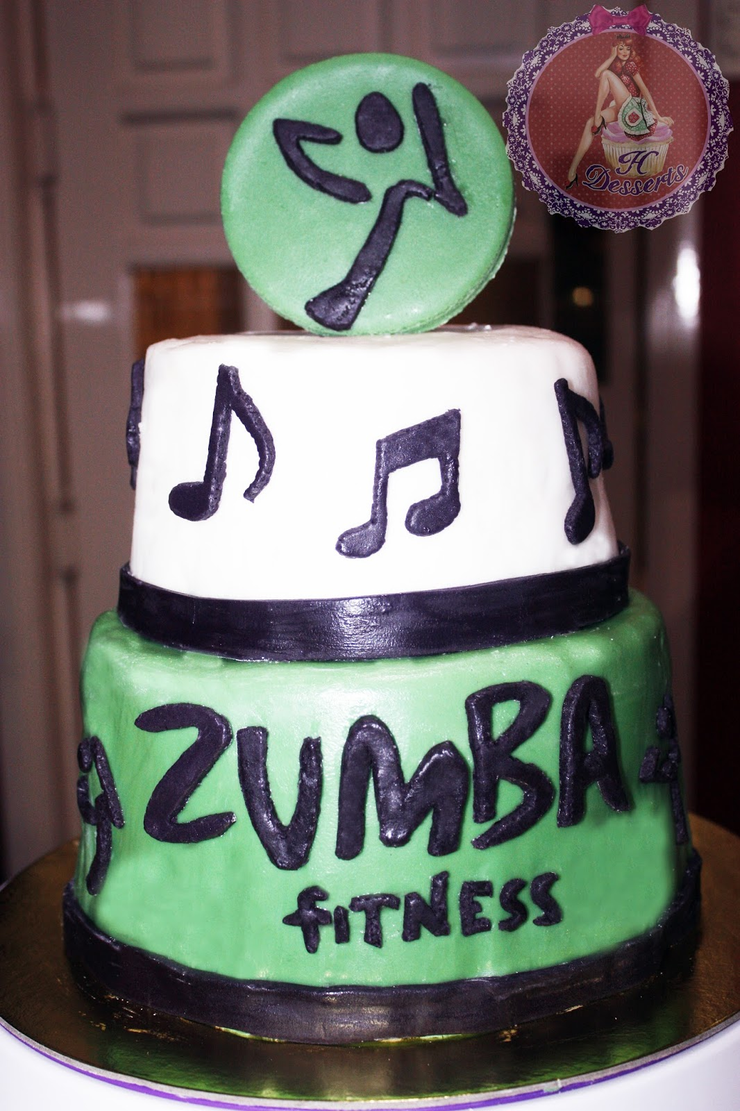 H Desserts All Edible Zumba Themed Birthday Cake As Requested By Client