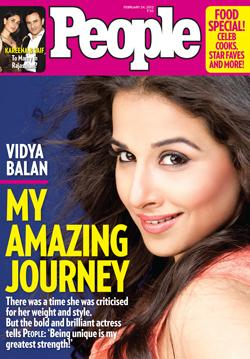 Vidya Balan on the cover of People India - March 2012 - Vidya Balan on the cover of People India