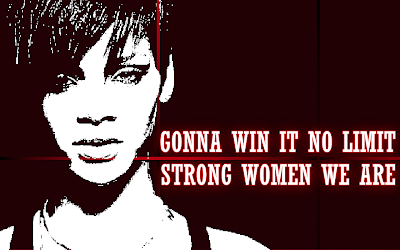 Winning Women - Rihanna Song Lyric Quote in Text Image