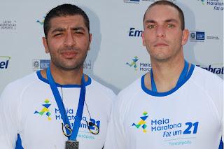 Para os militares Pierre Oliveira e Igor Claussen a corrida foi muito bem organizada