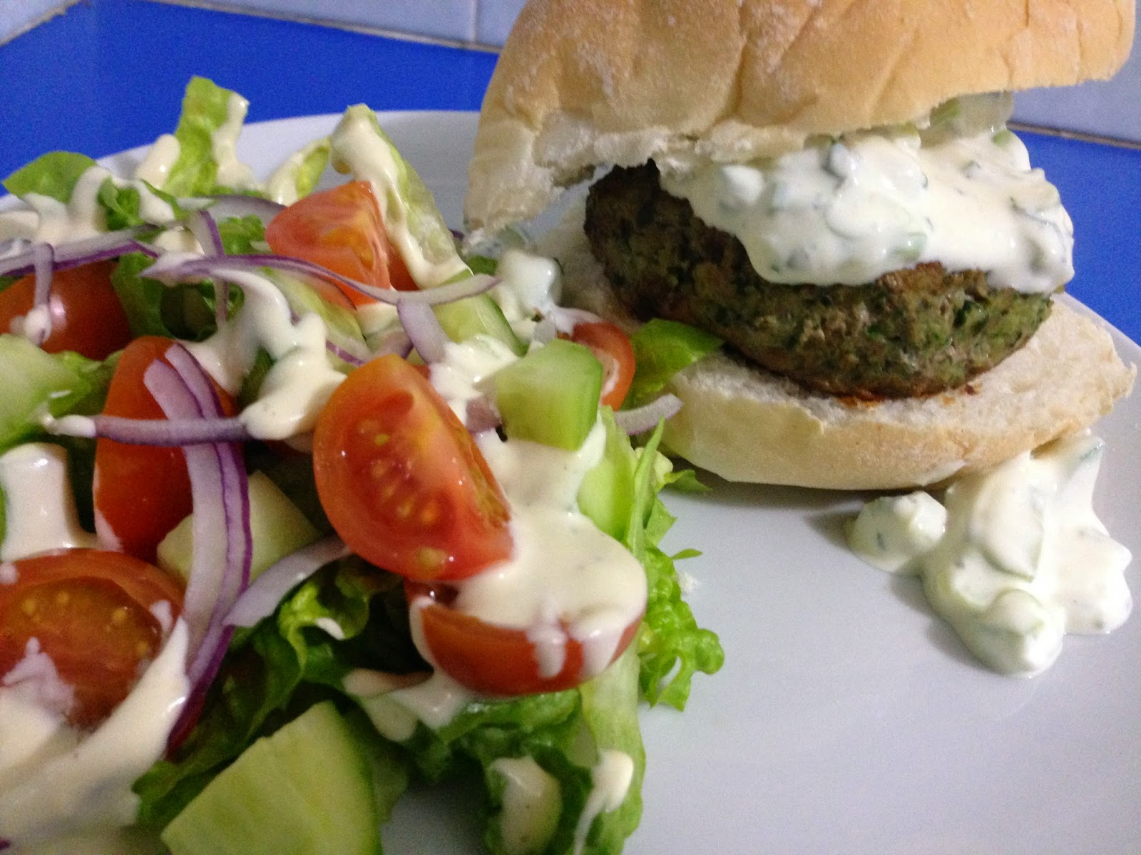 Middle Eastern Turkey Burgers with Cucumber & Yoghurt sauce AND NY ...