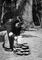 Working on the cairn...