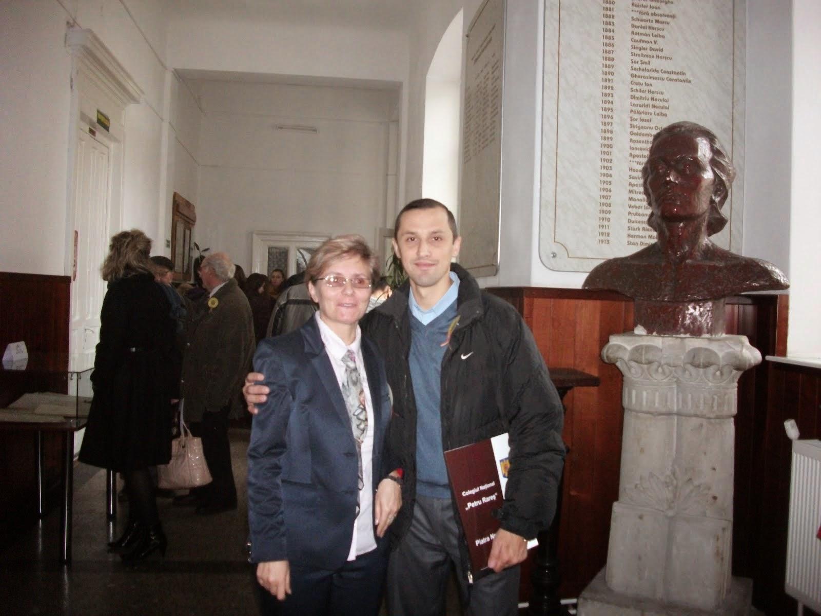 Zilele Rareşului, 26 noiembrie 2014. Cu Prof. Sonia Iacoban...
