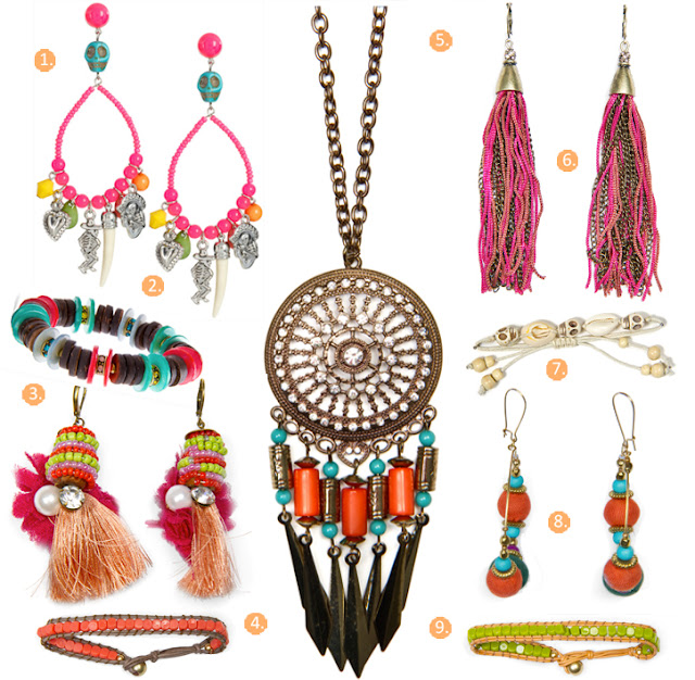Mango jewellery SS2012, ethnic, beads, Mexican inspired jewellery