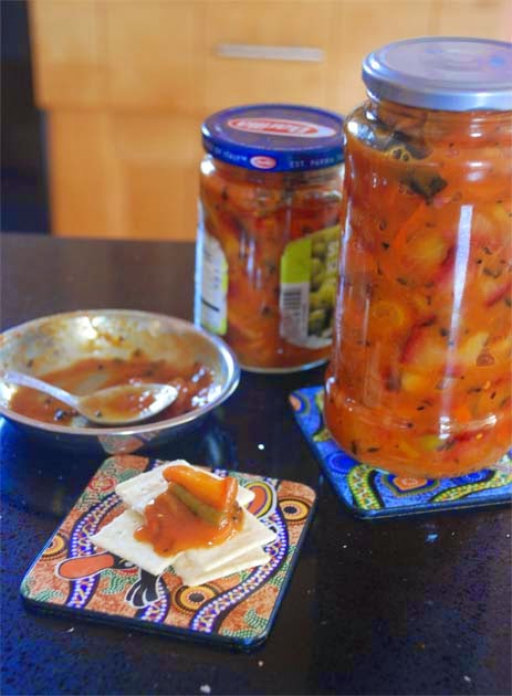 Phaler Achaar -- Mixed Fresh Fruit Chutney