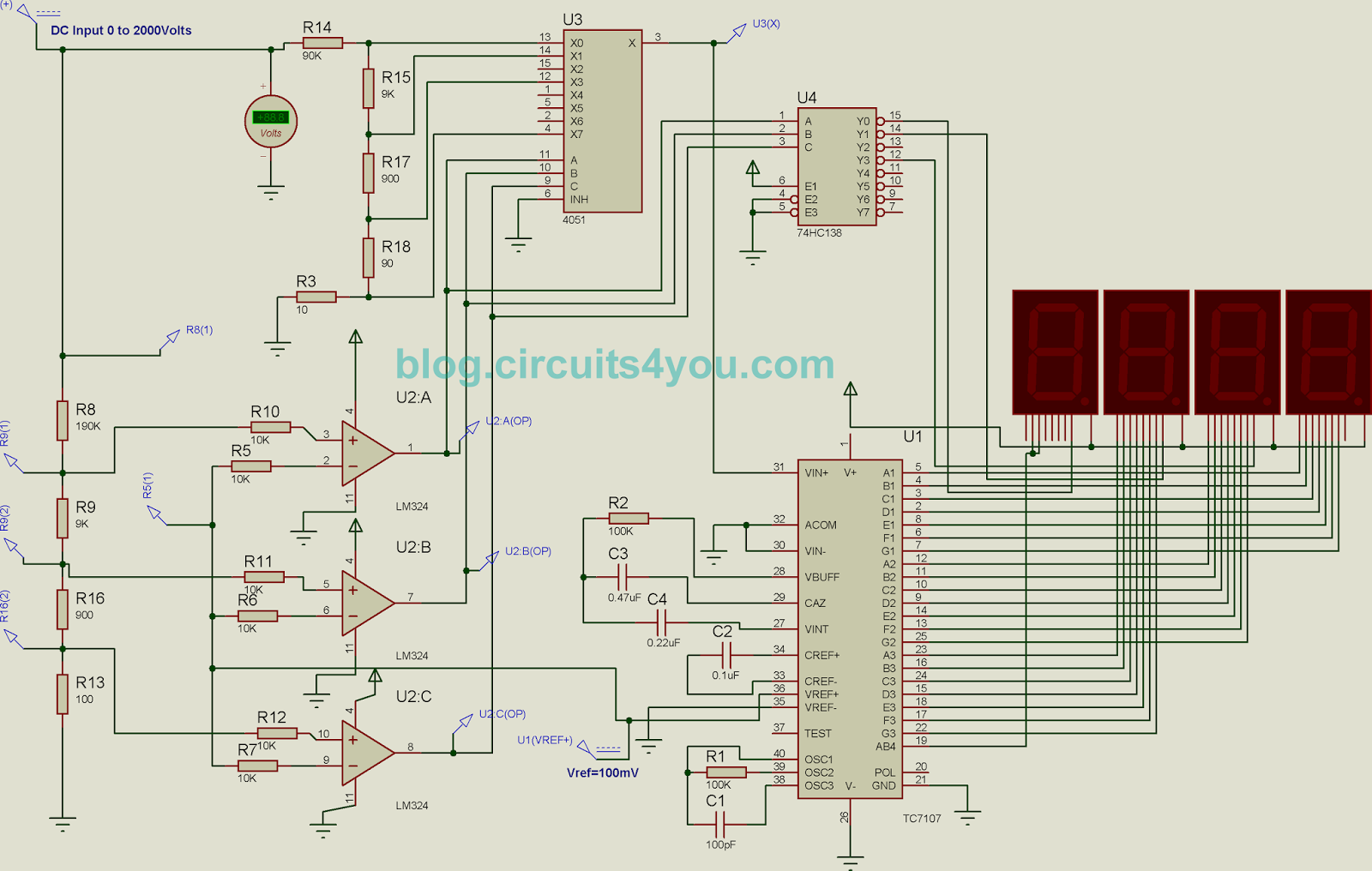 icl7107 autorange voltmeter circuits4you com rh blog circuits4you com Simple Schematic Diagram Schematic Diagram Symbols