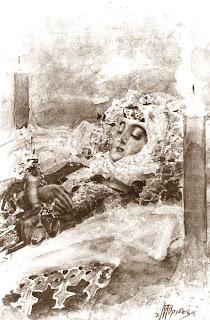 Mikhail Vrubel - Death Tamara