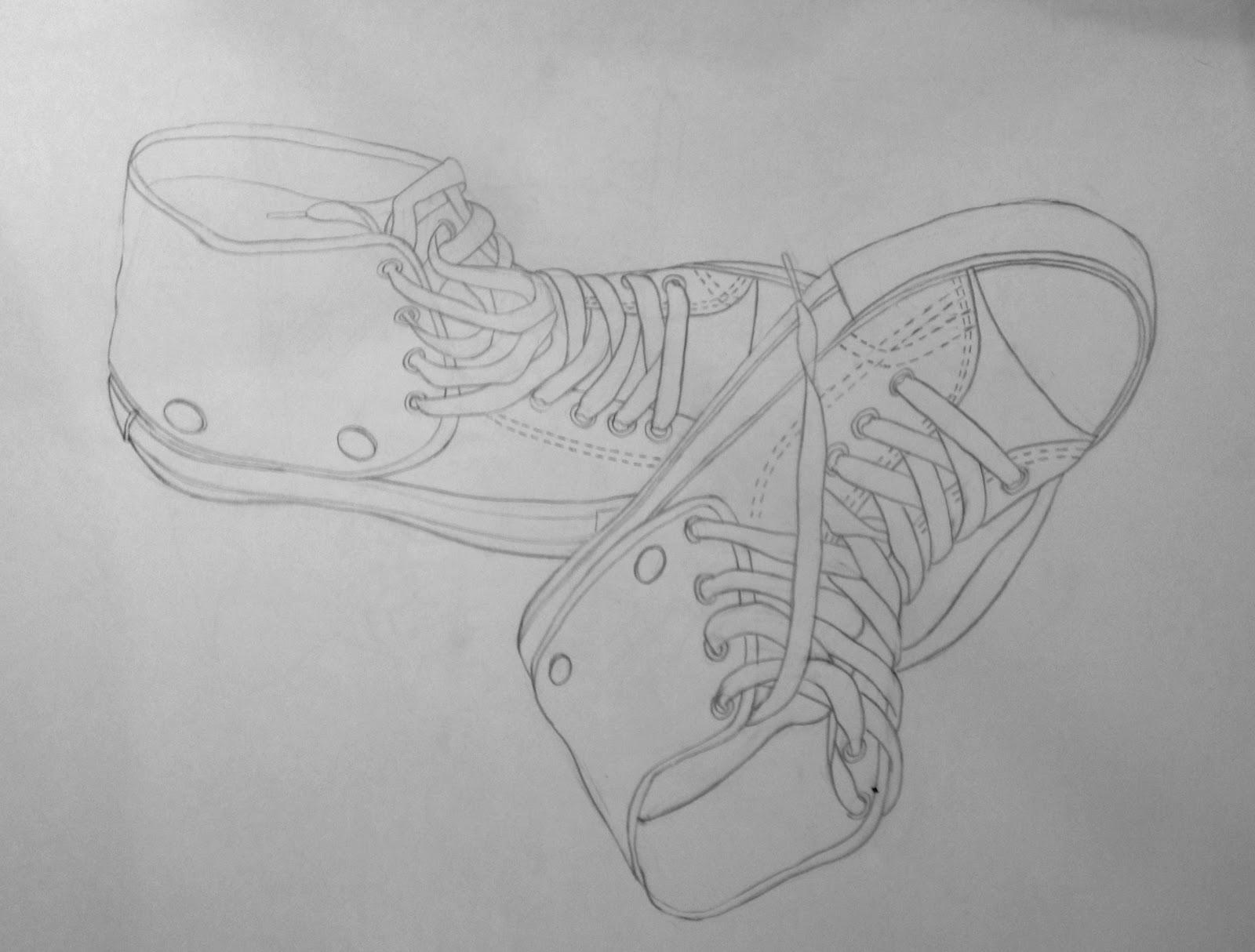 Contour Line Drawing Of A Shoe : Shoe contour
