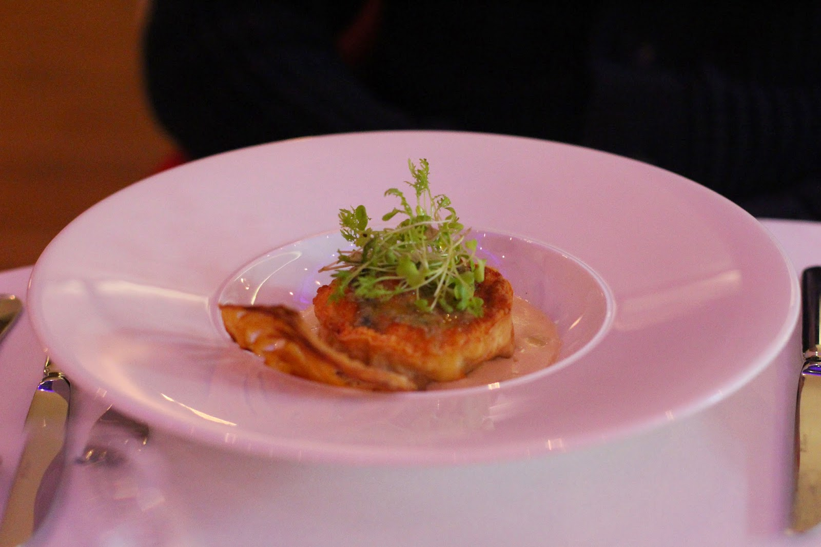 Twice-baked souffle of wild mushrooms and Barkham Blue cheese was ...