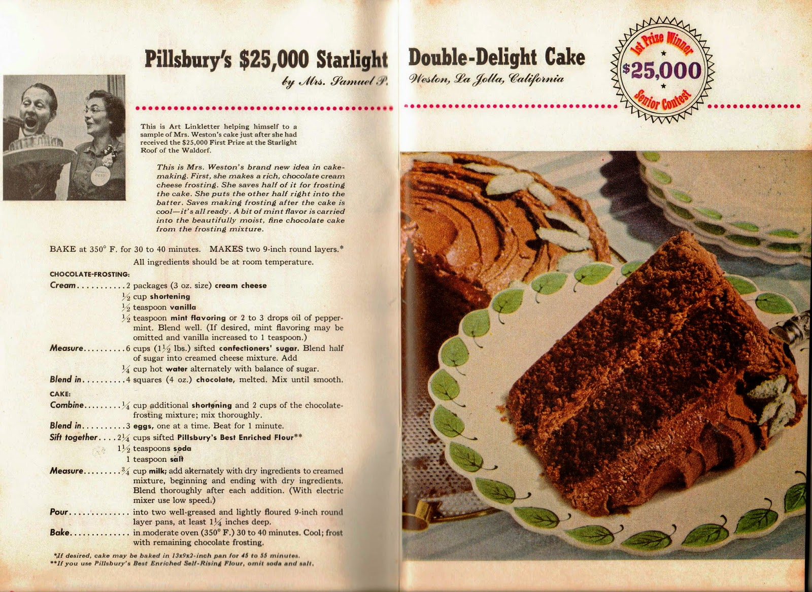 1951 Pillsbury Bake Off Winning Recipe