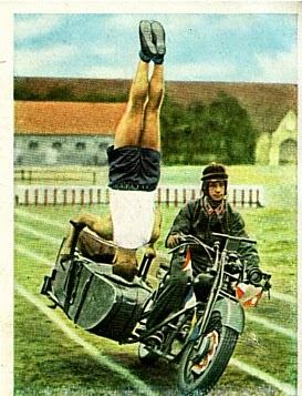 wehrmacht german army motorcycle sidecar cigarette card