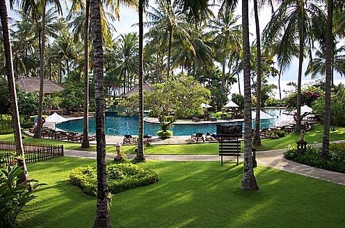Suasana senggigi dari salah satu hotel di senggigi lombok