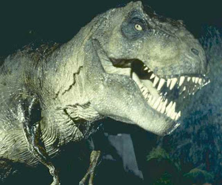 screen shot image of a T-Rex from Jurassic Park