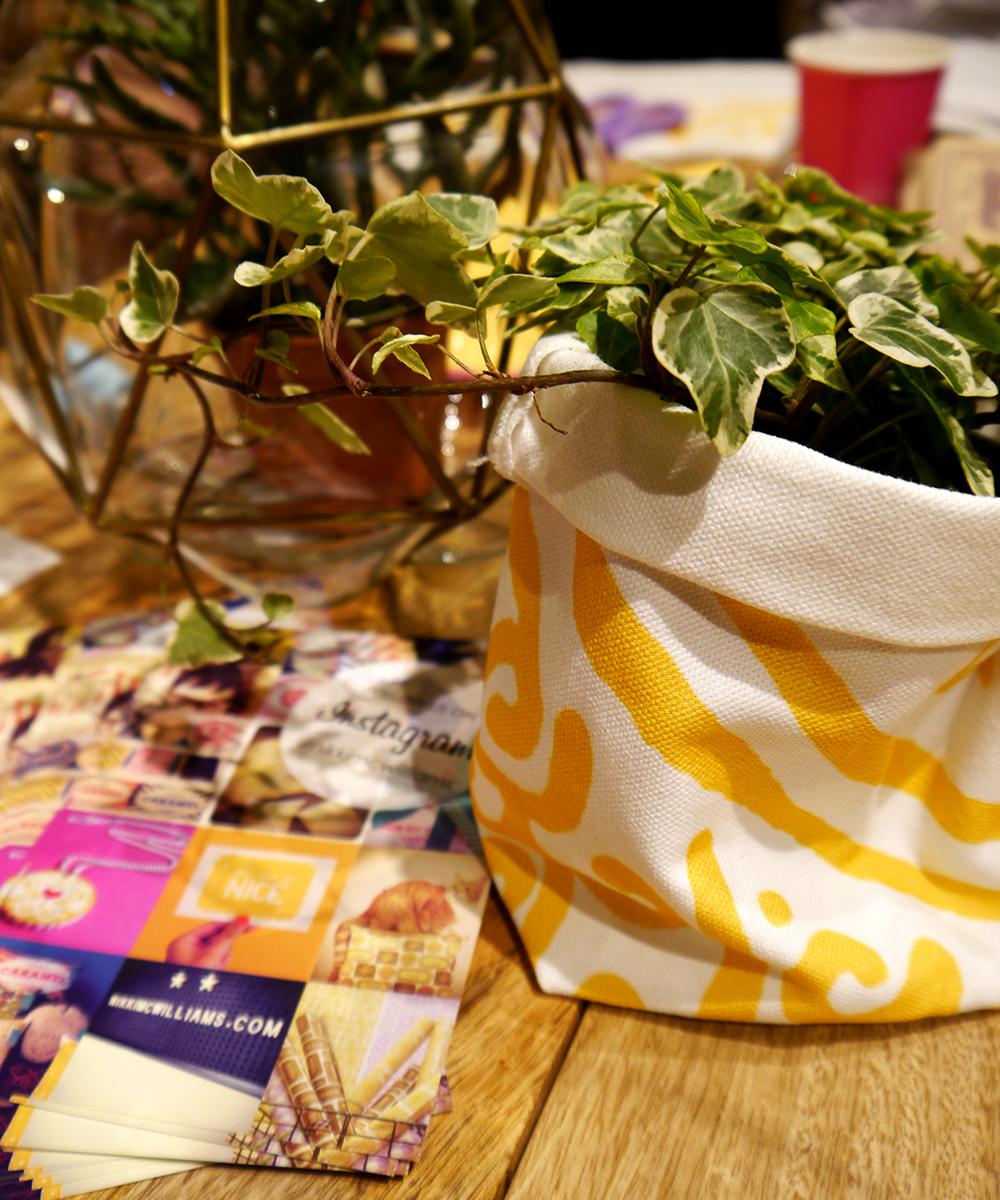 Nikki McWilliams, biscuit, custard cream, urbang ardener, plant pot holder, sack, easy sew, Blogtacular, London, 2015, blog, blogger, Scottish blogger, craft, workshop