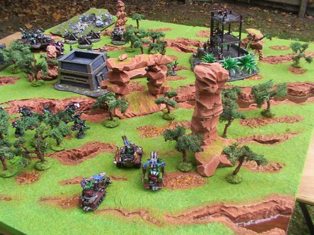 40K_Atelier décors en vue d'une nouvelle table Jungle DustansJungleTableTerrain