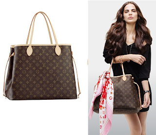 louis vuitton neverfull celebrity. made of the traditional signature lv monogram canvas with natural cowhide leather straps and trimmings. it is a gorgeous, functional bag very popular louis vuitton neverfull celebrity