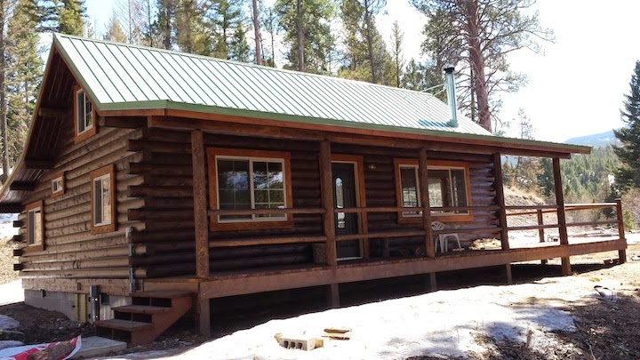 The montana cabin builder one cabin two looks for Cabin builders montana