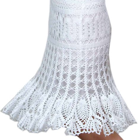 Crochet Patterns Skirt : ... Crochet Design By Ira Rott: Brugge Crochet Lace Skirt PDF Pattern