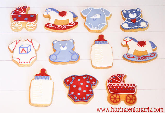 galletas de bebes decoradas con glasa