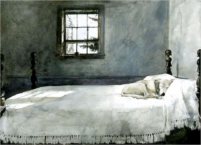 wyeth andrew the master s bedroom c 1965 watercolor andrew
