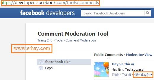 Cách tạo facebook comment và quản lý 4