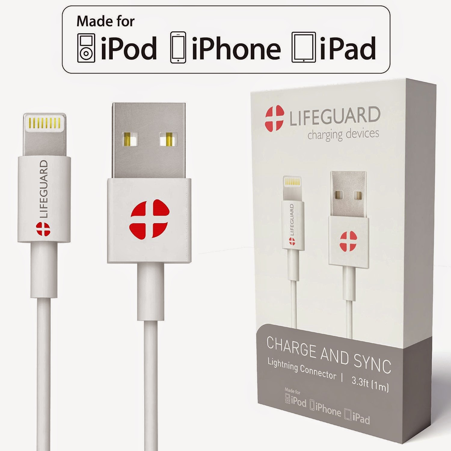 +LIFEGUARD Charge and Sync Lightning Connector