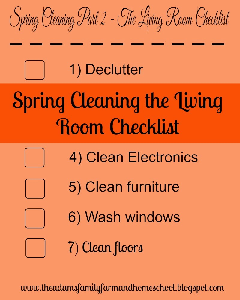 Spring Cleaning the Living Room Checklist