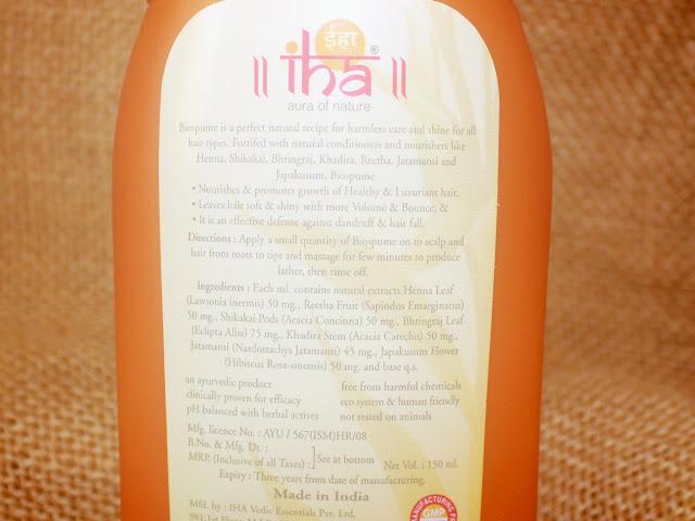 IHA Biospume- Anti Dandruff & Anti Hair Fall Shampoo Review