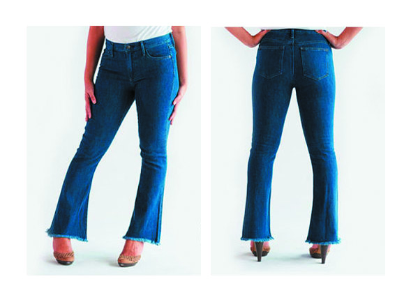 Как из джинсов сделать клеш 826