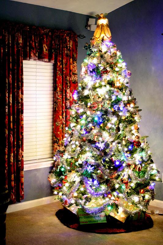 My mind life sparkly bright christmas tree