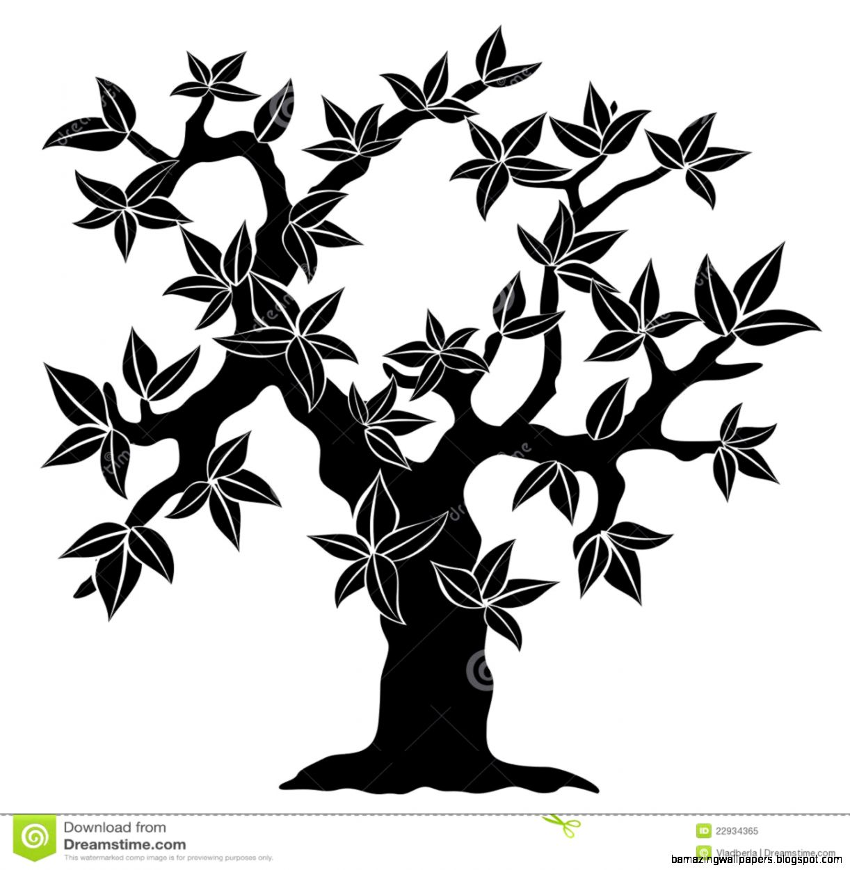 Spring Tree Silhouette Royalty Free Stock Photo   Image 22934365