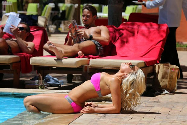 TOWIE's Dani stuns by the poolside