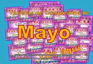 Mayo , tarjetas de cumpleaños con fechas para enviar o compartir