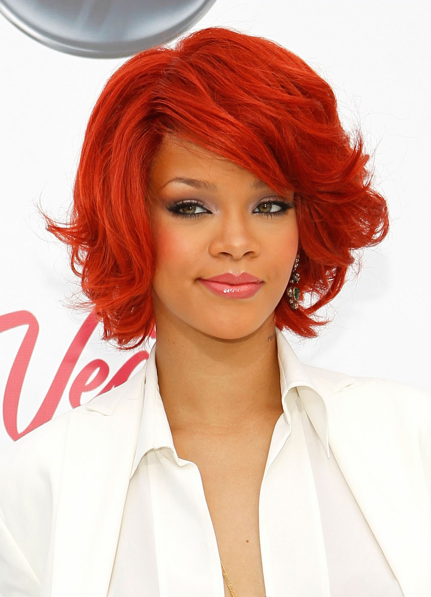 Hairstyle Rihanna Red Hairstyles