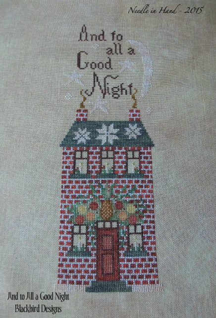 Needle in hand holiday season and 2015 finishes for Blackbird designs christmas garden