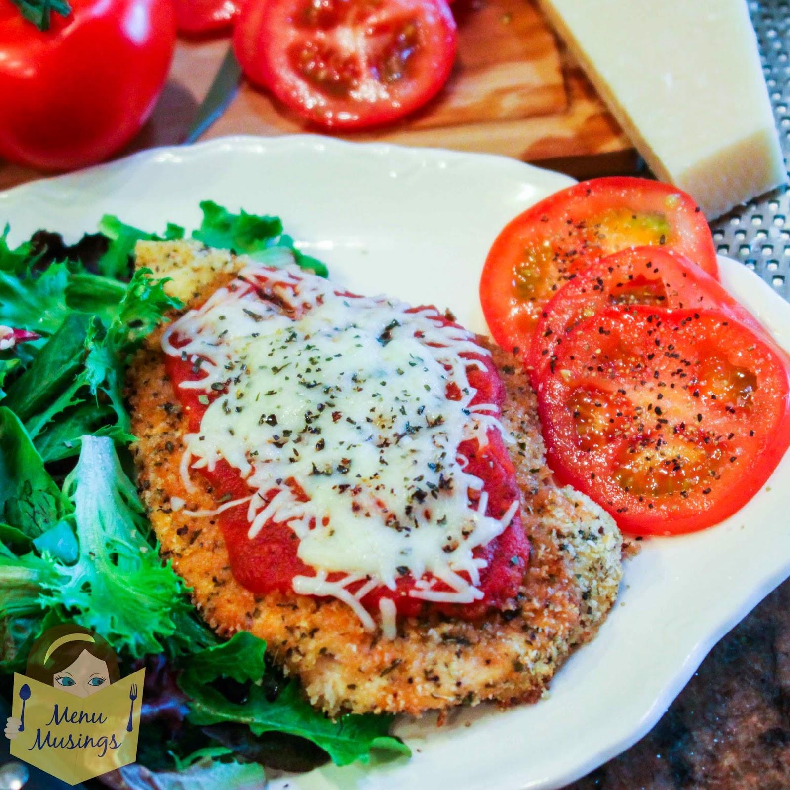 Baked Chicken Parmesan @ menumusings.com