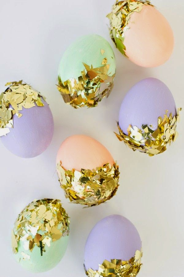 pastels, gold, eggs, easter