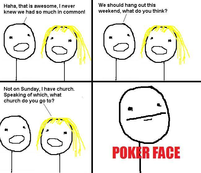 funny poker face