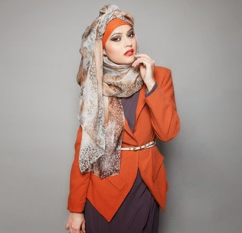 model hijab segi empat untuk ke kantor
