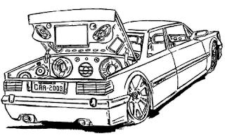 Desenhos Para Colorir os carro com som