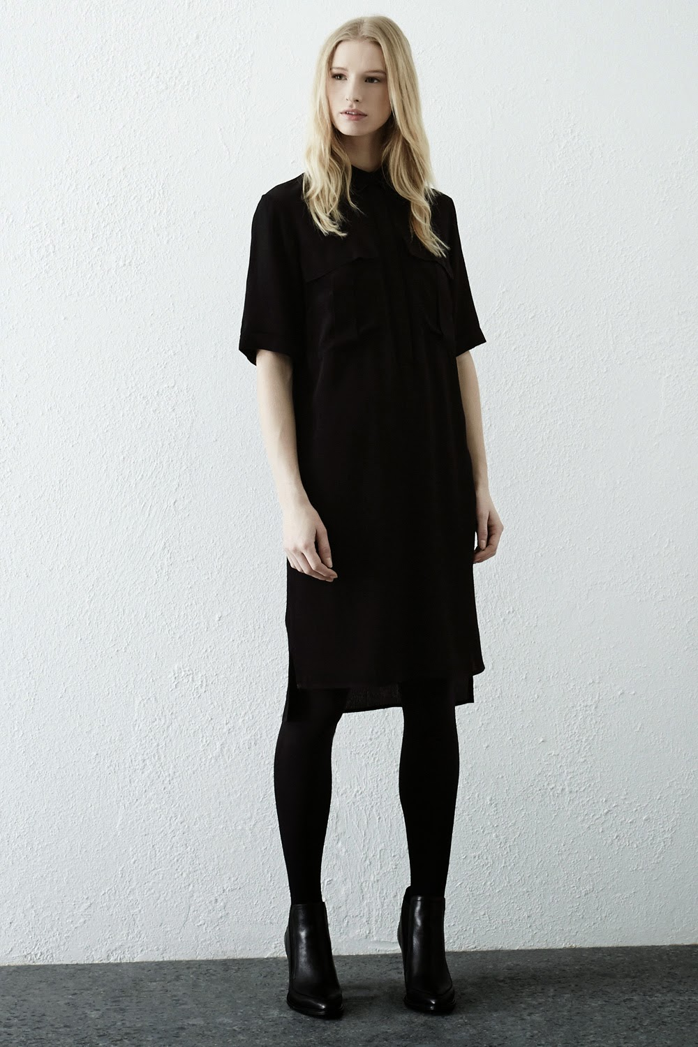 warehouse black shirt dress, warehouse shirt dress,