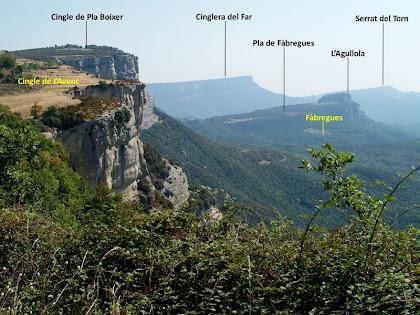 Panoràmica de la Vall de Sau des de la pista de Tavertet a Rupit