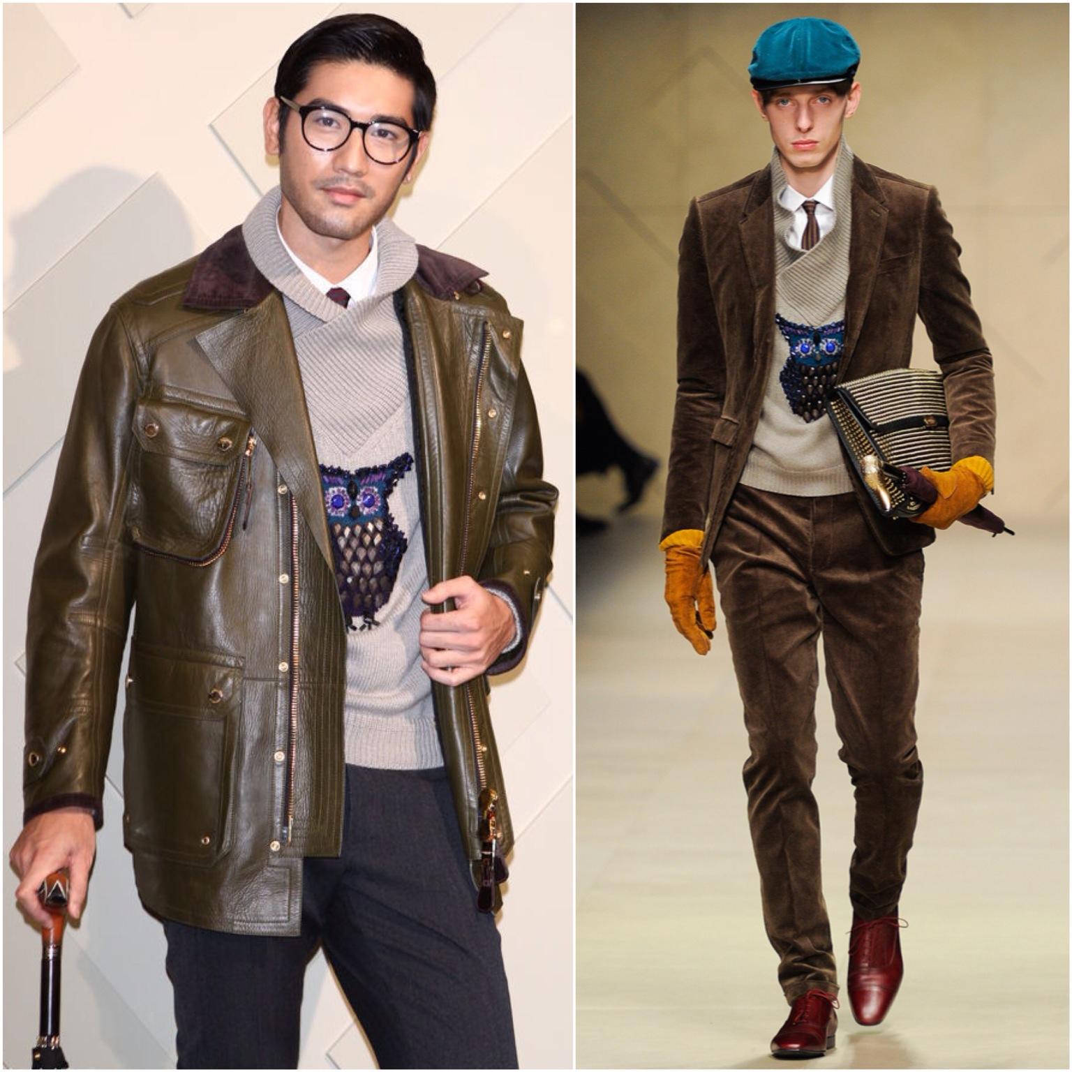 00O00 London Menswear Blog Celebrity Style 高以翔出席 Burberry Prorsum 精品店开幕 Godfrey Gao in Burberry Prorsum