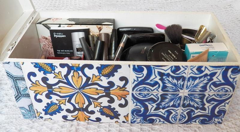 caixa para maquiagem customizada