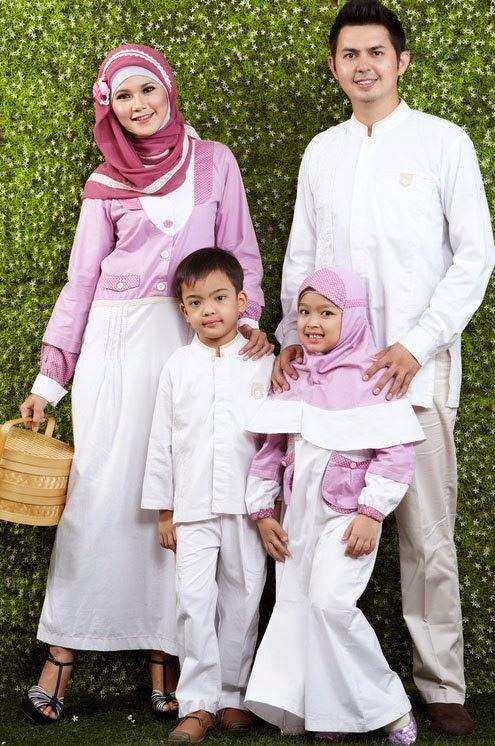 Baju muslim couple ayah ibu dan anak baju muslim share Baju gamis couple ibu ayah anak
