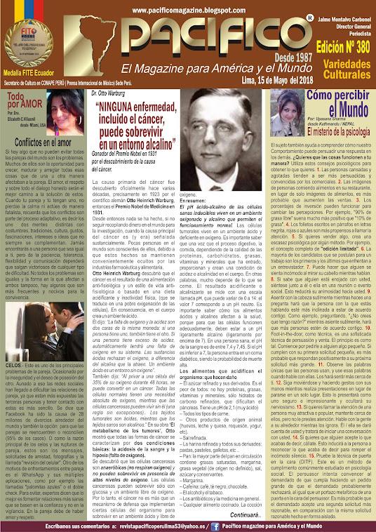 Revista Pacifico Nº 380 Variedades Culturales