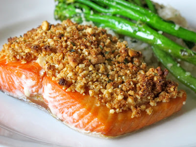 Peanut Crusted Salmon
