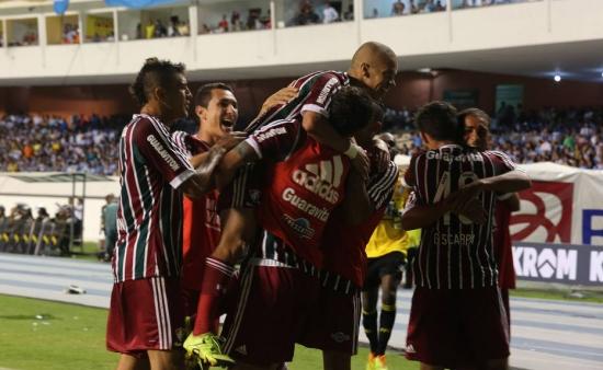 Fluminense comemora classificação no Mangueirão: 2 a 1