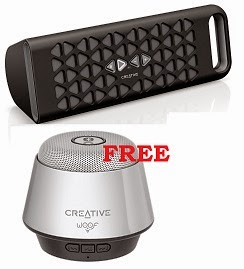 Buy Creative Muvo 10 Portable Wireless Speaker (Black) worth Rs.5999 for Rs.3157 & Get Creative WOOF Speaker worth Rs.2482 for FREE@ Amazon